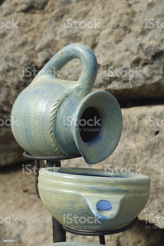 Ceramic falls stock photo