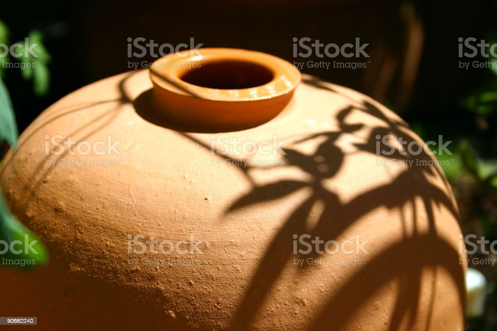 Ceramic flower pot royalty-free stock photo