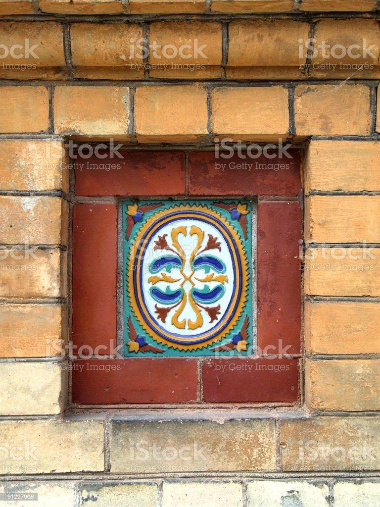 Ceramic folk decoration in Russia stock photo