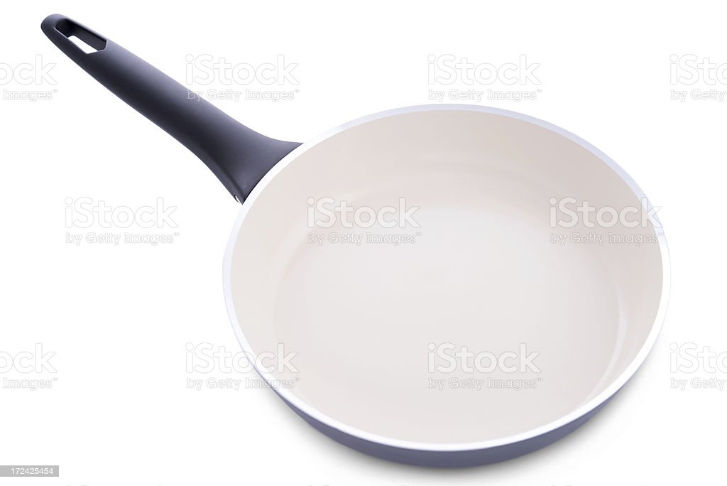 Ceramic frying pan stock photo