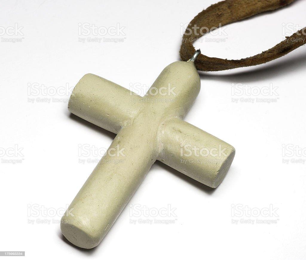 Ceramic handmade cross royalty-free stock photo