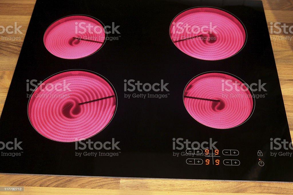 Ceramic hob stock photo