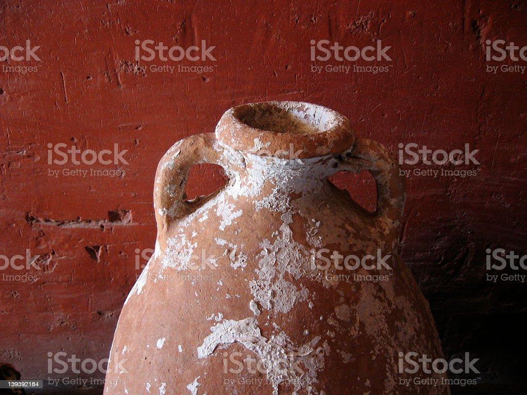 Ceramic jar royalty-free stock photo