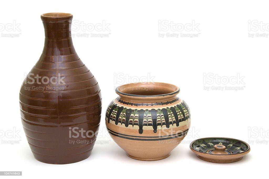 ceramic jars royalty-free stock photo