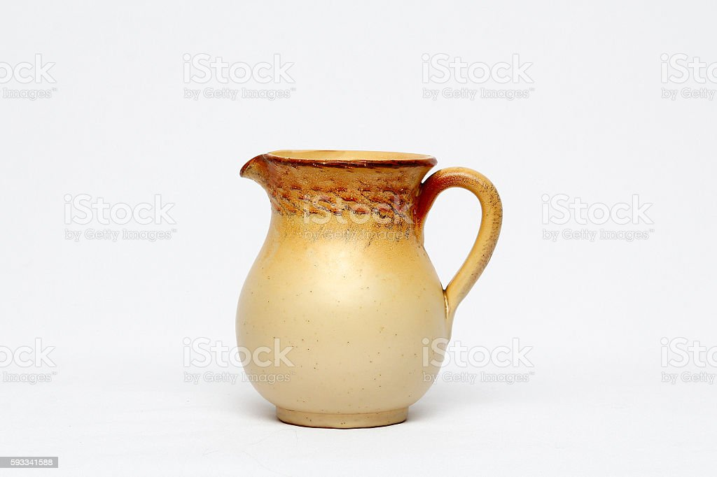 Ceramic jug stock photo