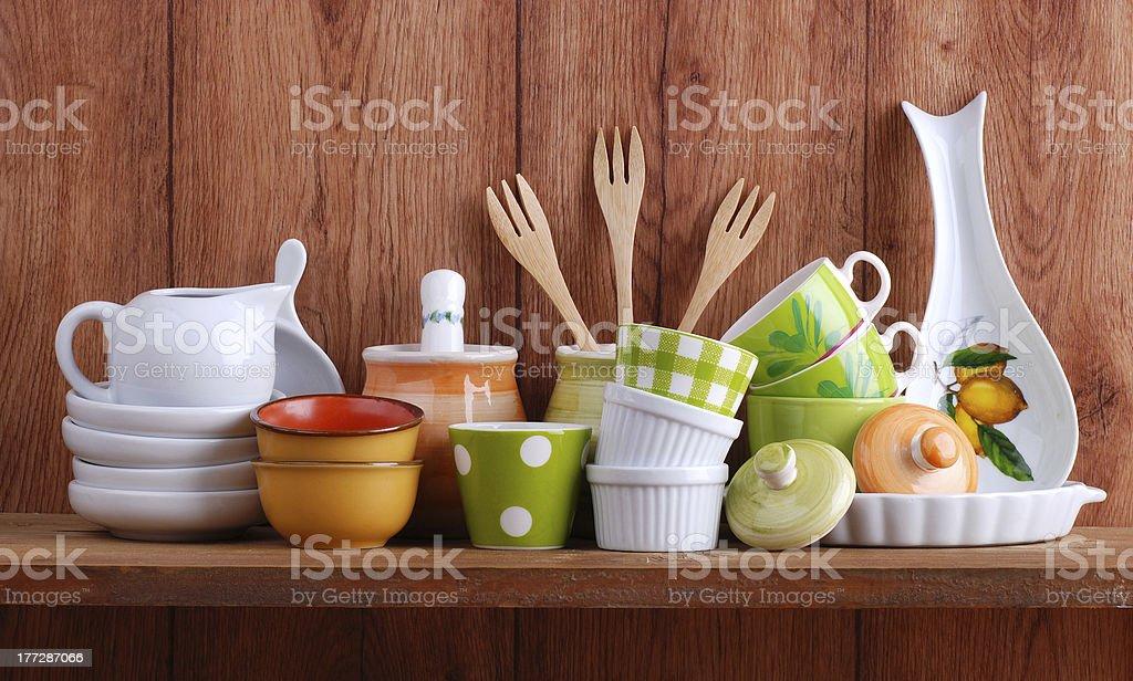 ceramic kitchen tools stock photo