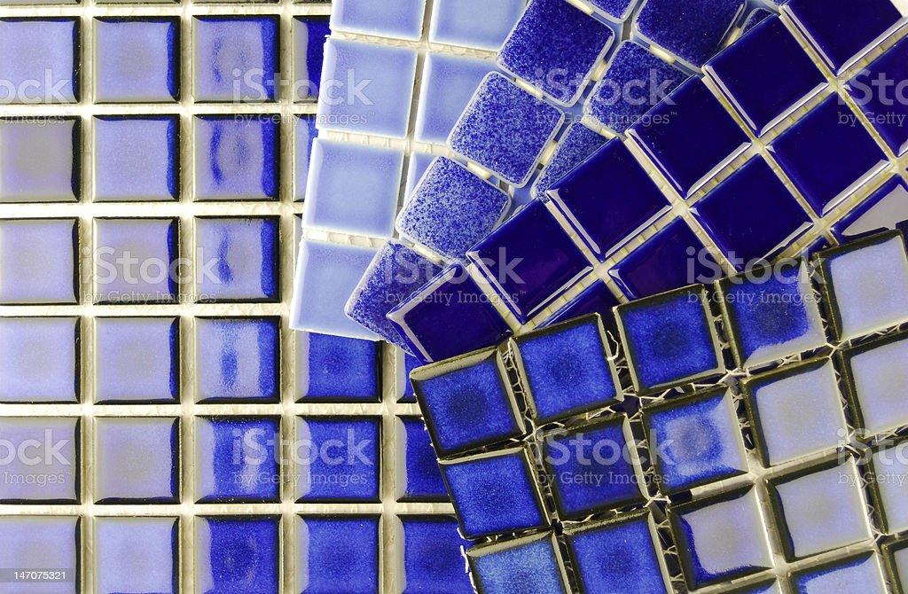 ceramic mosaic blue tiles royalty-free stock photo