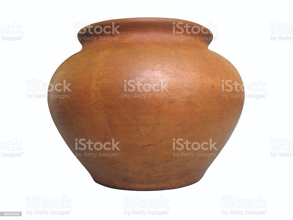 Padrão de barro cerâmico isolada no fundo branco foto de stock royalty-free