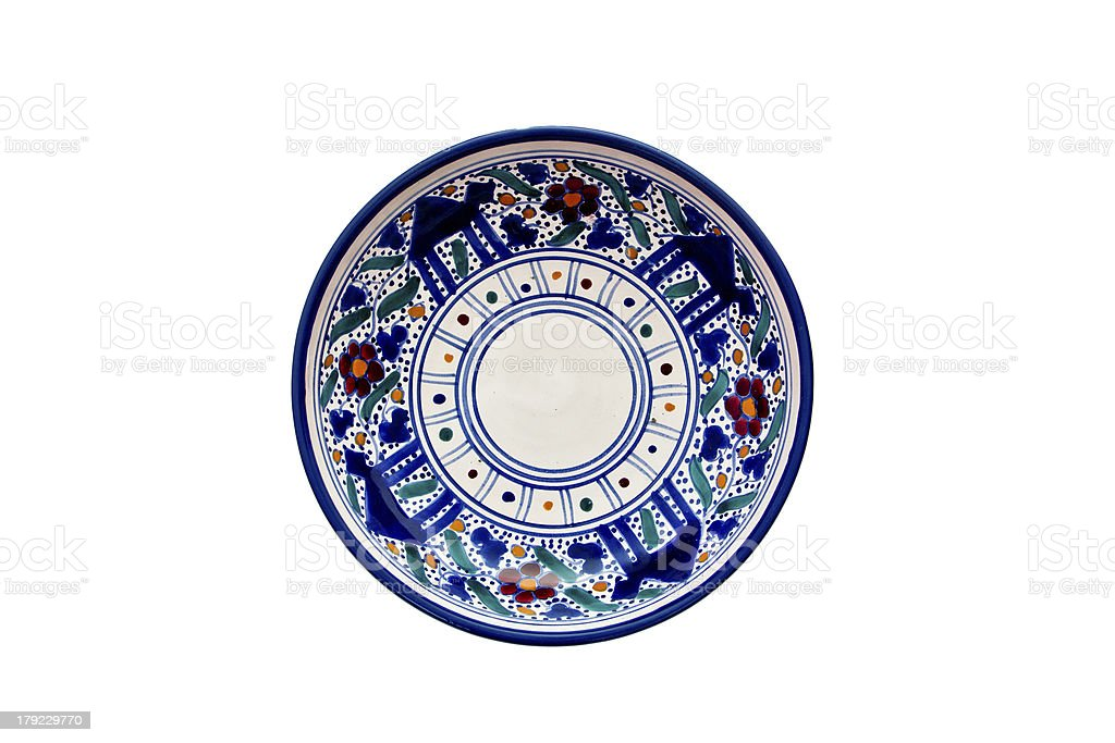 ceramic plate royalty-free stock photo