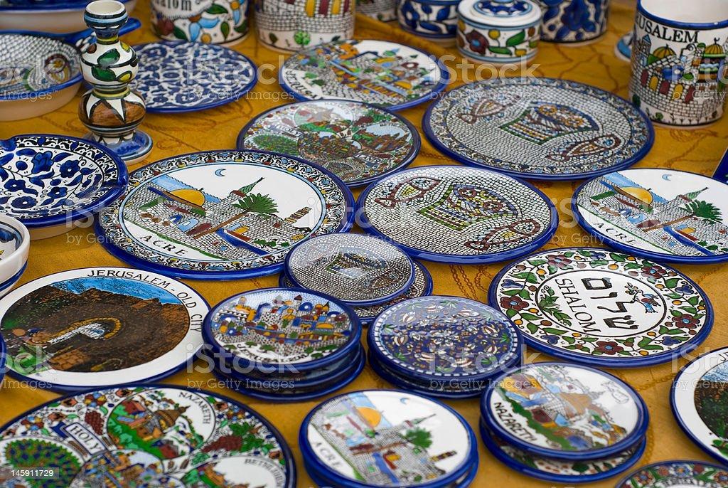 Ceramic plates royalty-free stock photo