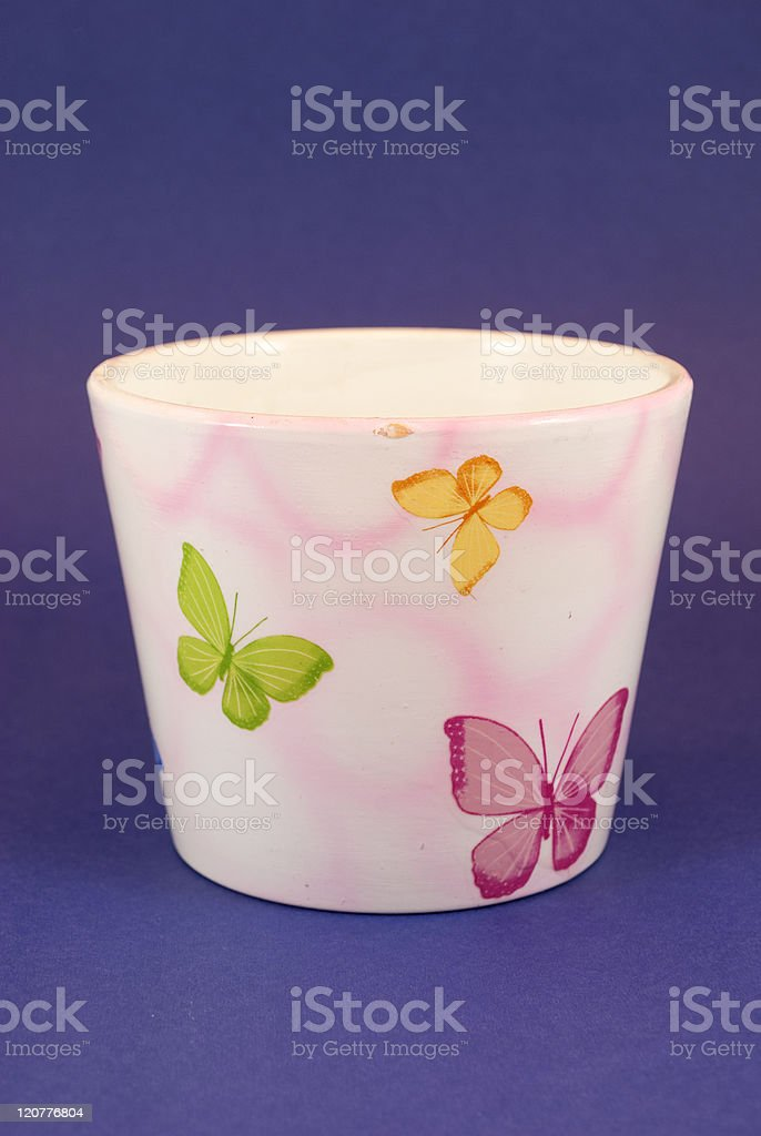 Ceramic pot royalty-free stock photo