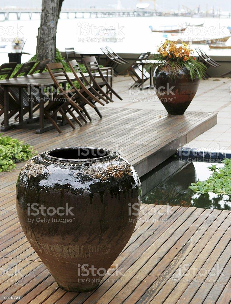 Ceramic pot royalty-free stock photo