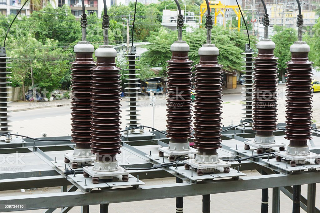 Ceramic Power Insulator stock photo