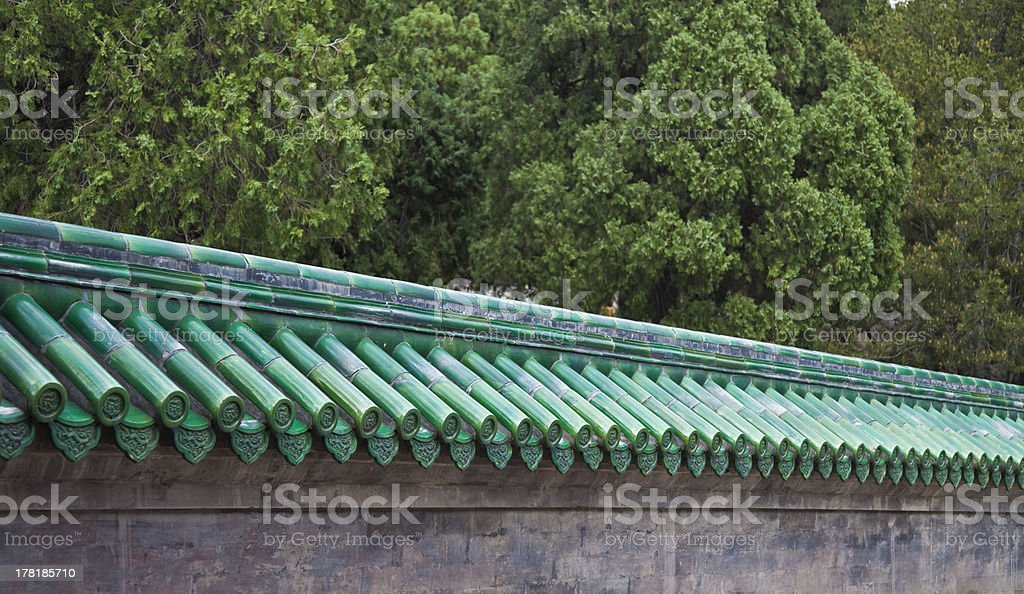 Ceramic roof of the pagoda royalty-free stock photo