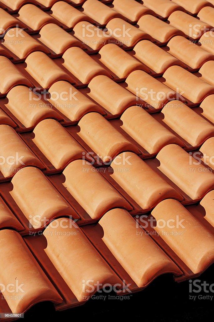 Ceramic roof royalty-free stock photo