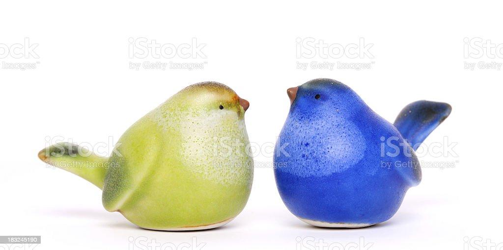 Ceramic small birds royalty-free stock photo