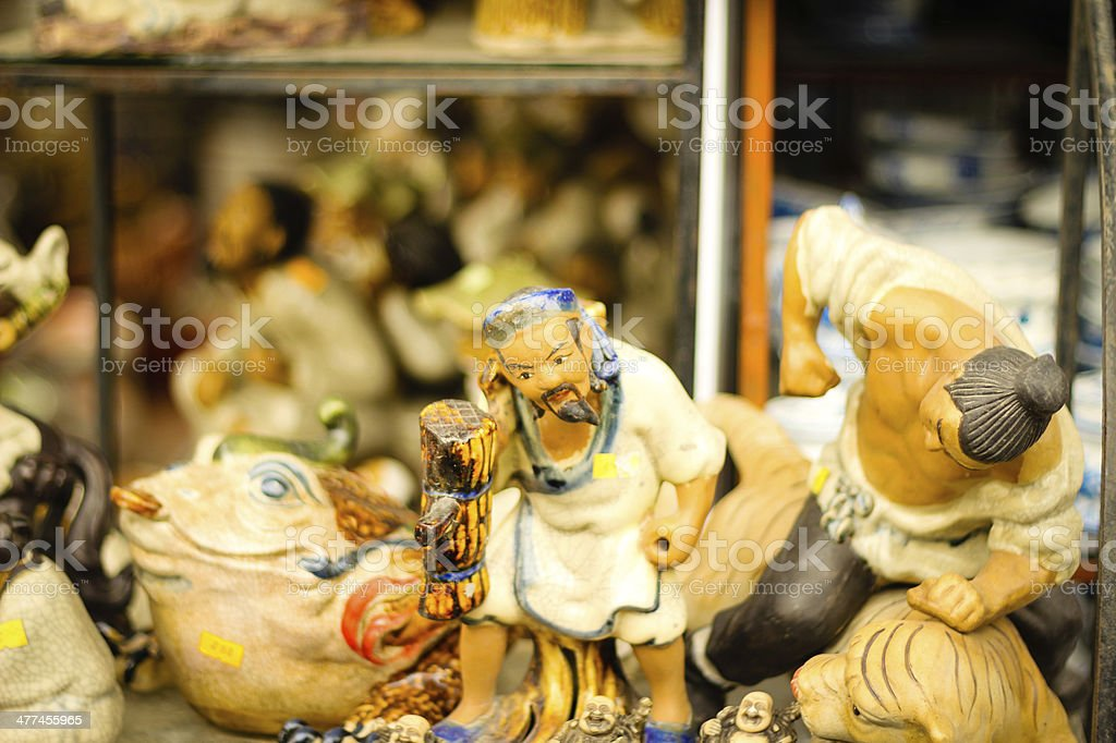 Ceramic souvenir in Bat Trang village - Vietnam stock photo