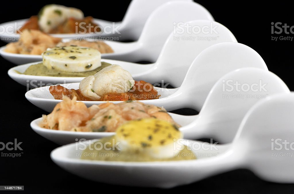 ceramic spoons royalty-free stock photo
