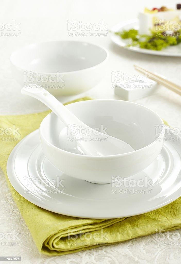 Ceramic tableware royalty-free stock photo