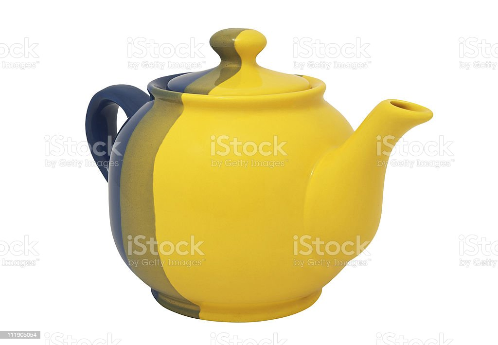 Ceramic teapot royalty-free stock photo
