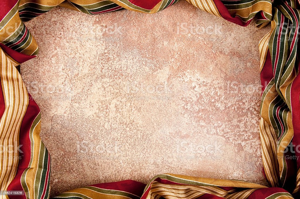 Ceramic tile and fabric creating a space for copy royalty-free stock photo