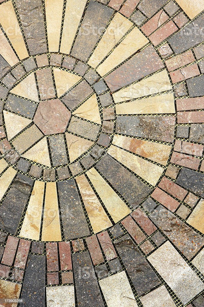 Ceramic Tile Circle Pattern Interior Decor royalty-free stock photo