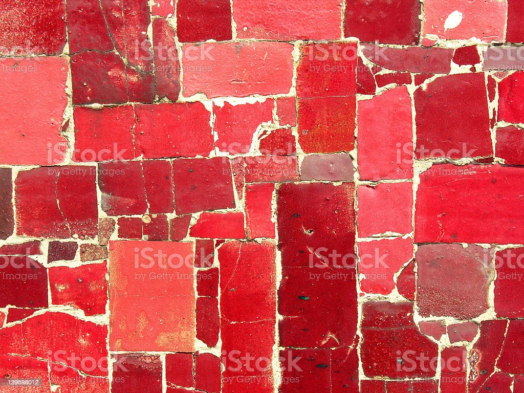 Ceramic tile mosaic stock photo