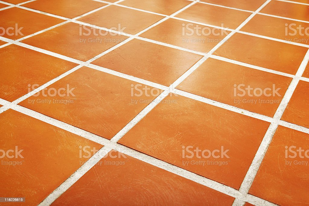 Ceramic tiled floor royalty-free stock photo