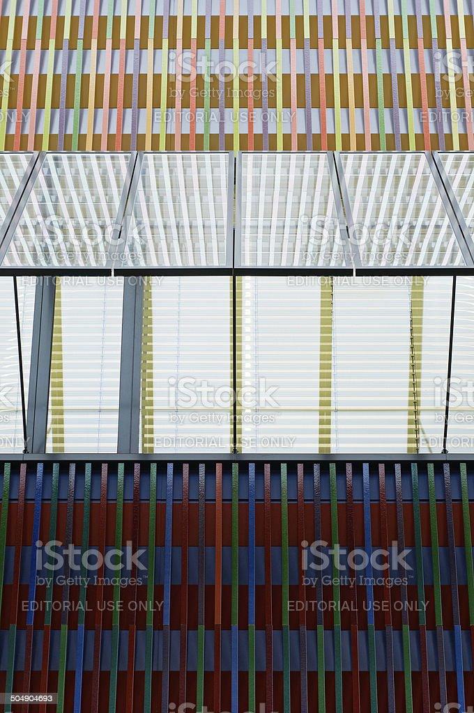 Ceramic Tiled Wall Detail stock photo