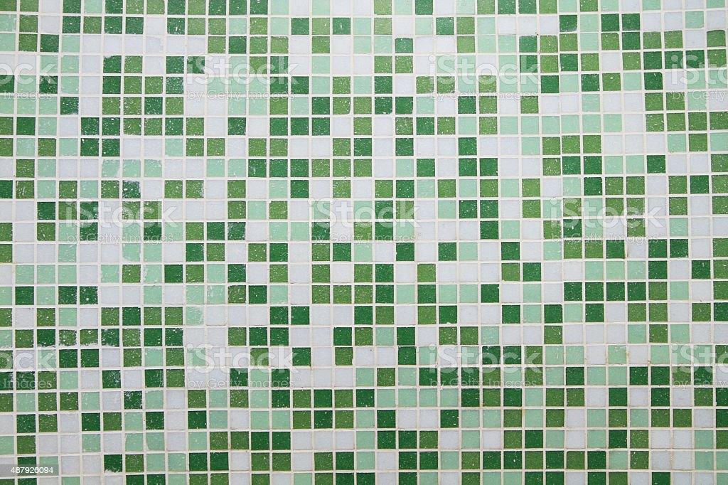 Ceramic tiled wall stock photo