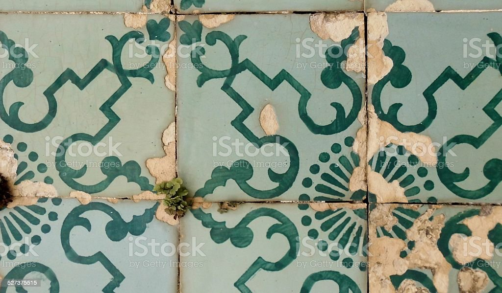 Ceramic Tiles At Penedos stock photo