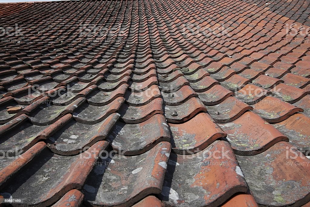 Ceramic Tiles on roof top background royalty-free stock photo