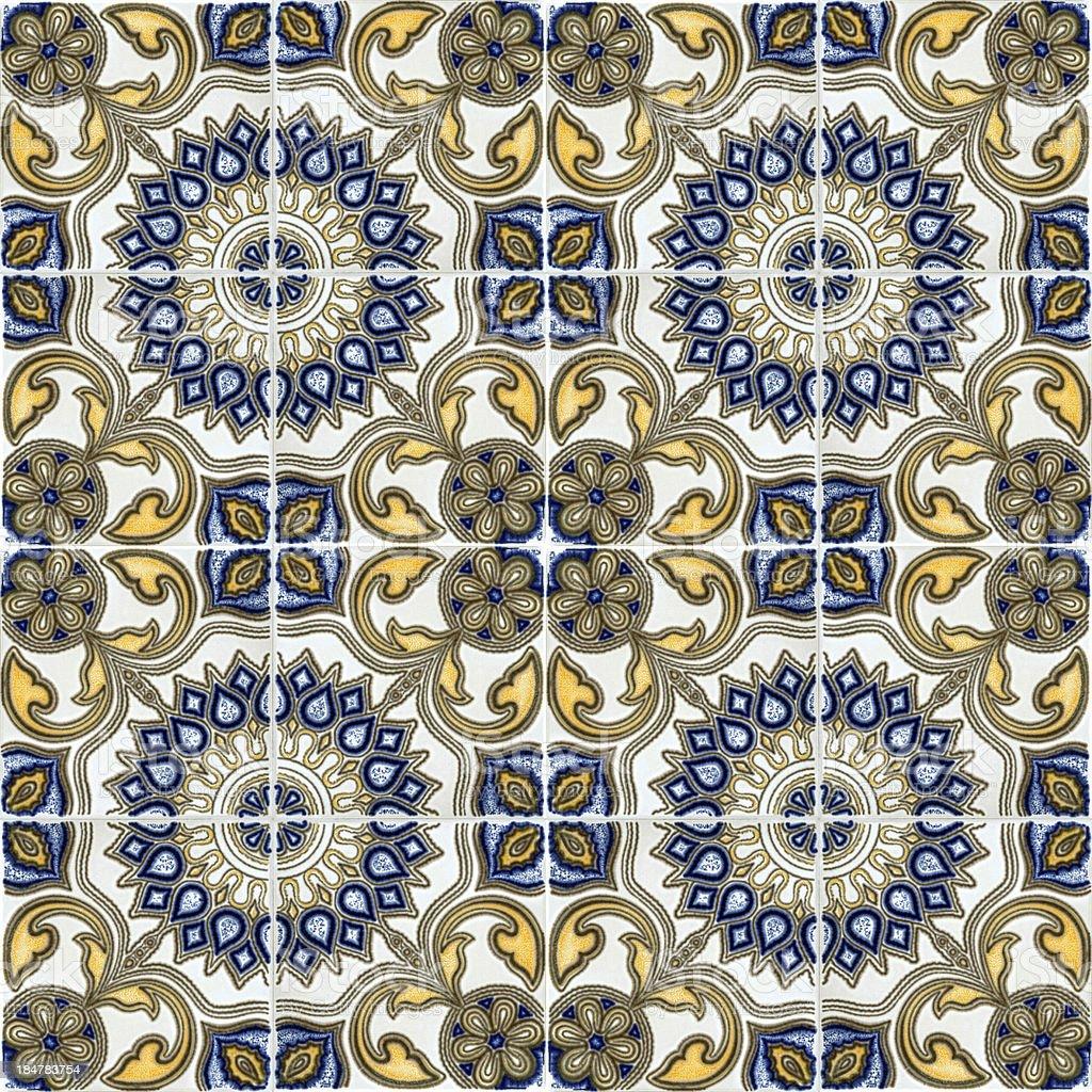 ceramic tiles seameless pattern royalty-free stock photo