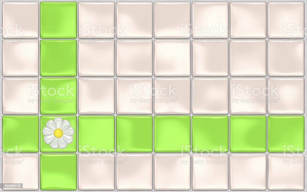 ceramic tiles with flower royalty-free stock photo