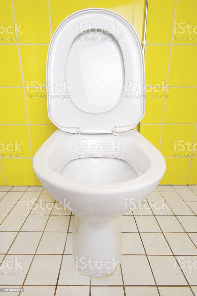 Ceramic toilet closeup royalty-free stock photo