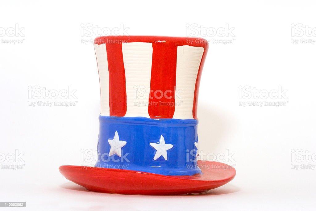 Ceramic Uncle Sam Top Hat stock photo