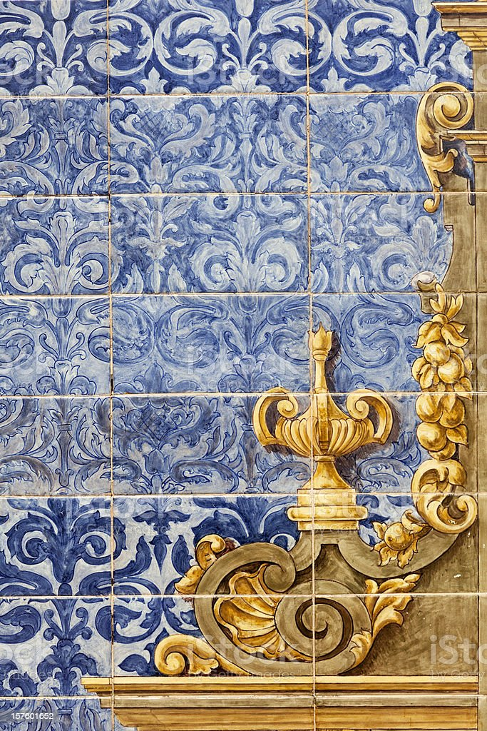 Ceramic wall tiles in Seville, Spain royalty-free stock photo