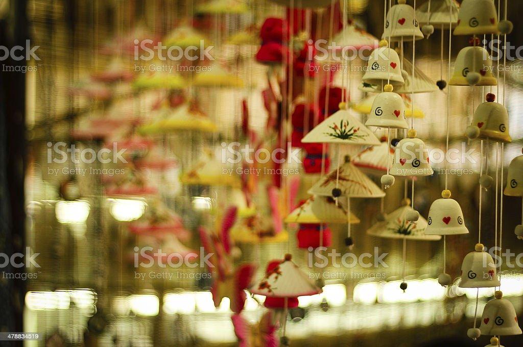 Ceramic wind bell in Bat Trang village - Vietnam stock photo
