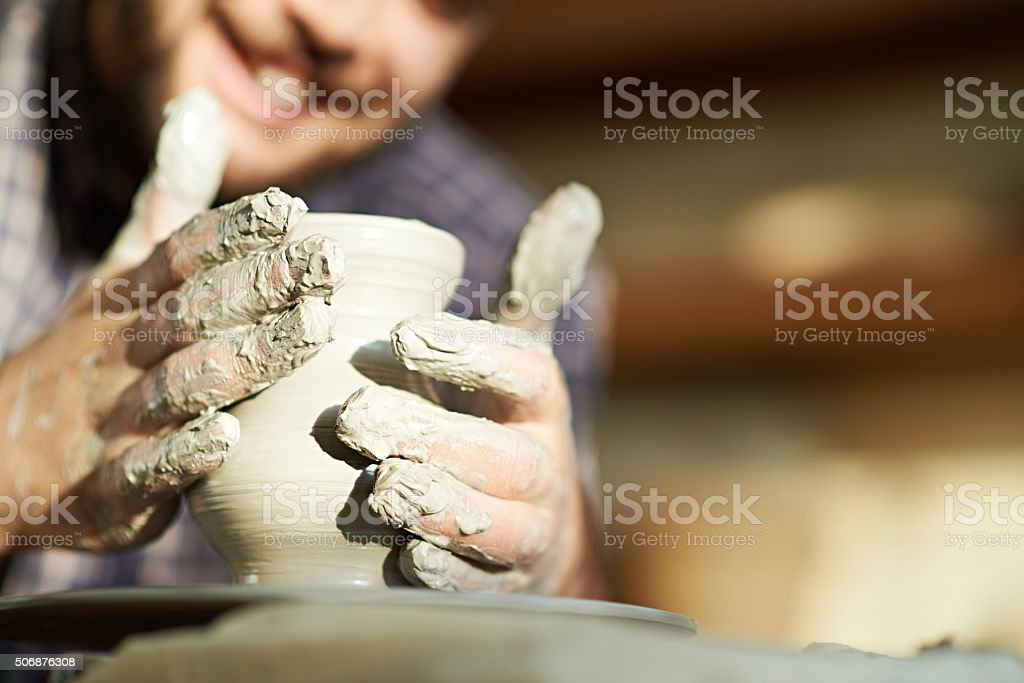 Ceramic work stock photo