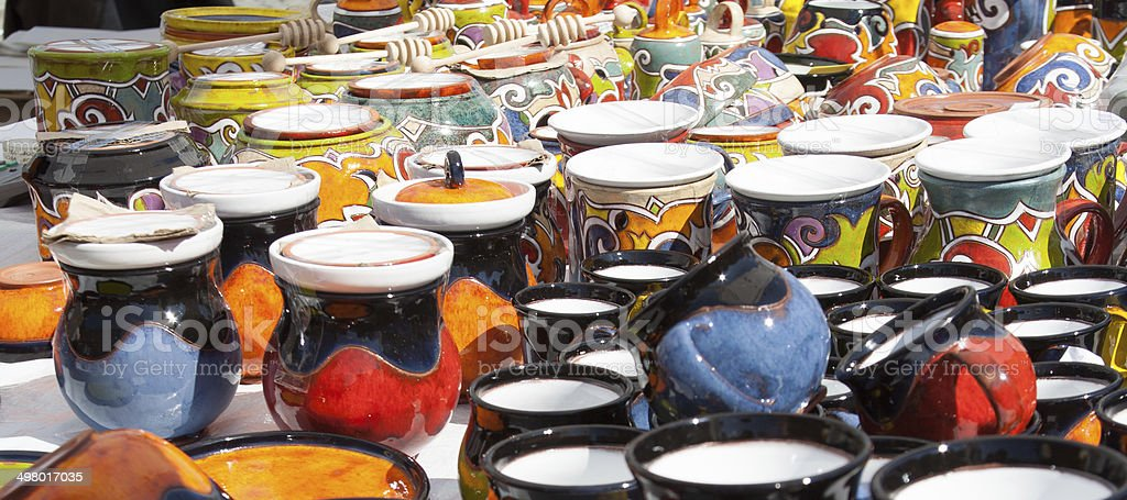 Ceramics fair in the Czech Republic royalty-free stock photo
