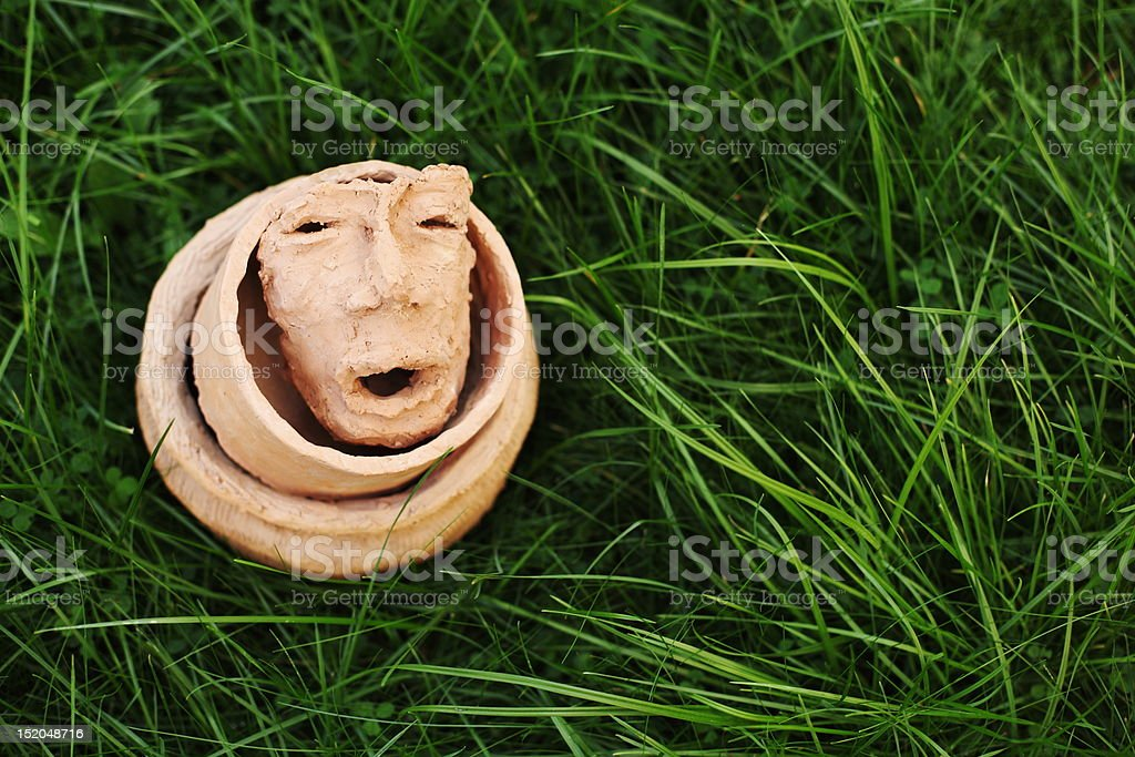ceramics in outdoor-scenery royalty-free stock photo