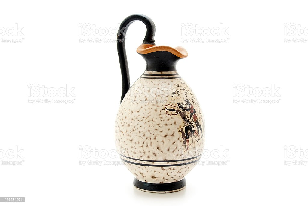 Ceramics jug with pattern stock photo