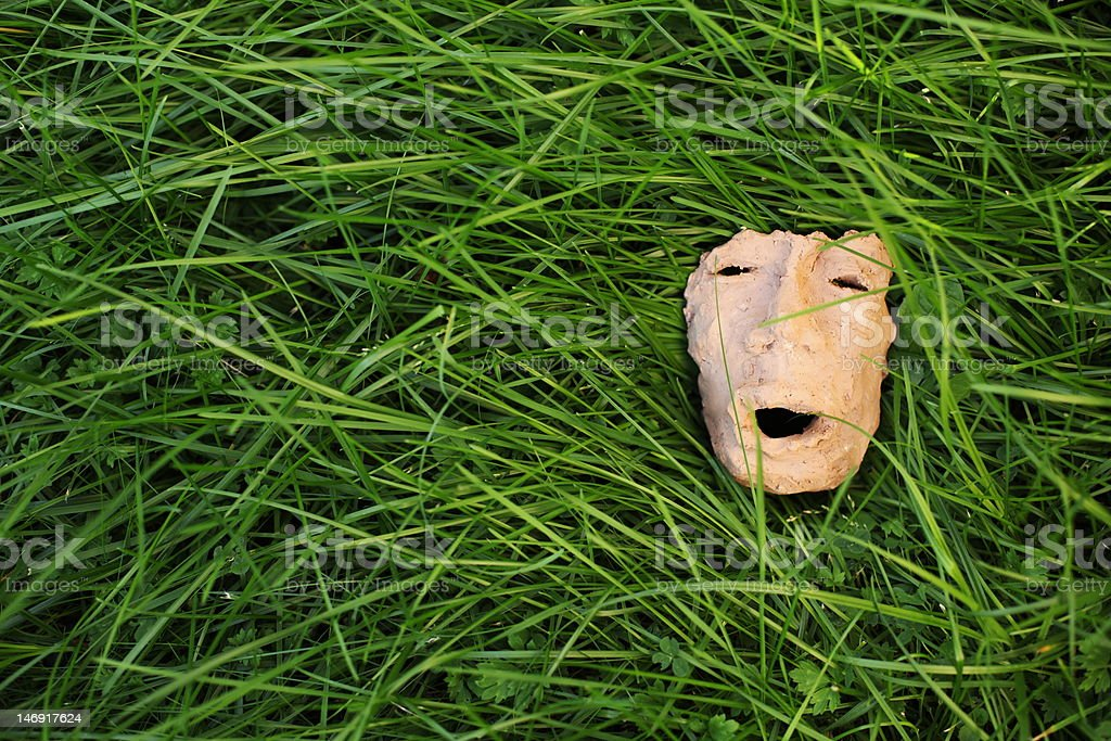 ceramics mask royalty-free stock photo