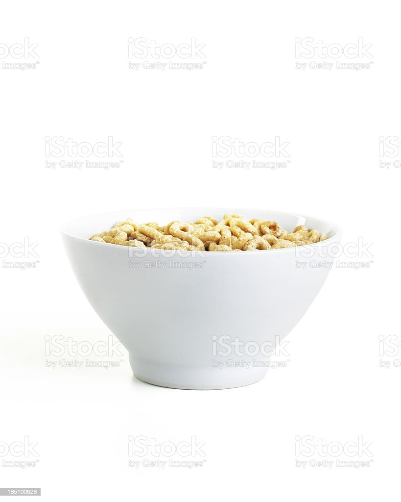 cereal bowl isolated on white stock photo