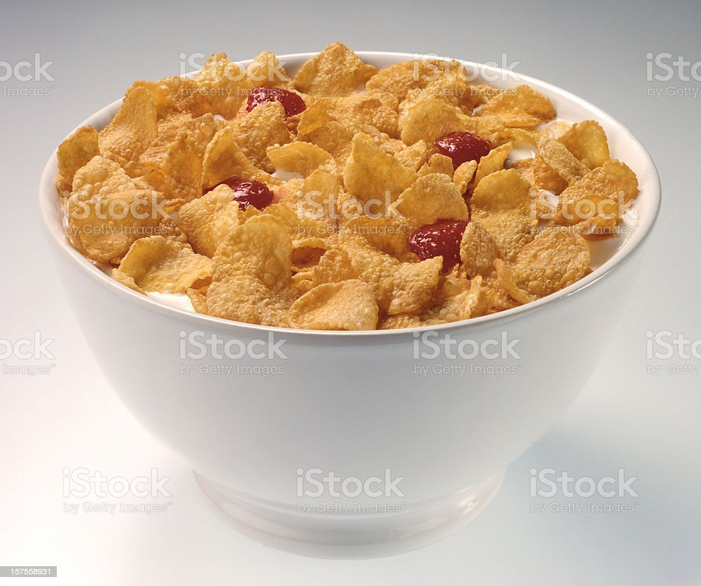 Cereal bowl(clipping path) stock photo