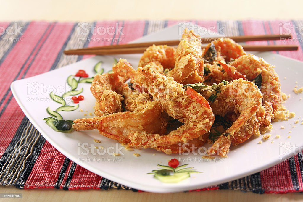 Cereal Butter Prawn royalty-free stock photo