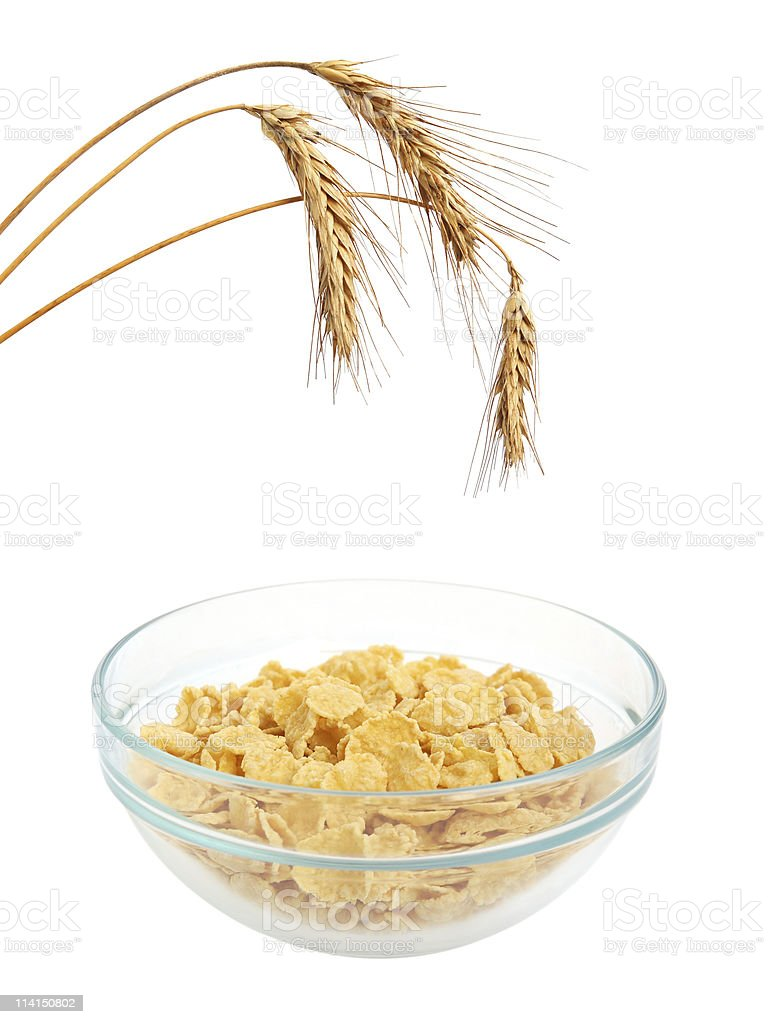 Cereal flakes breakfast royalty-free stock photo