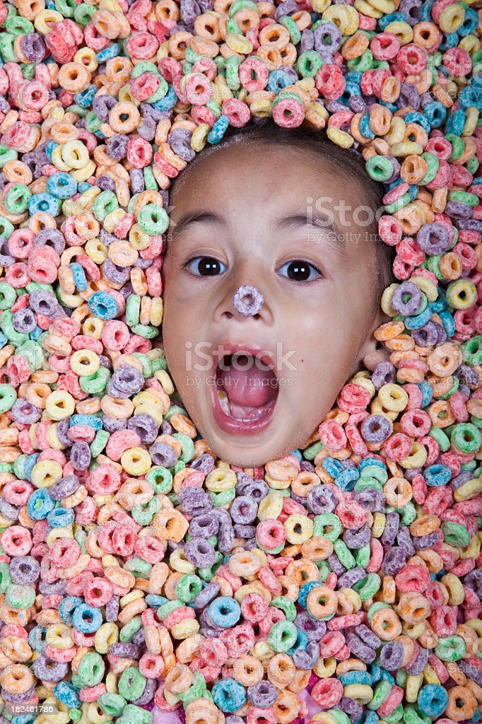 cereal girl royalty-free stock photo