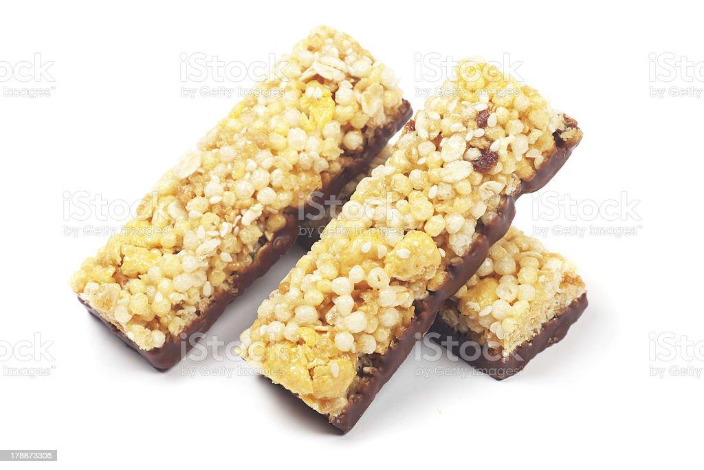 Cereal granola bars royalty-free stock photo