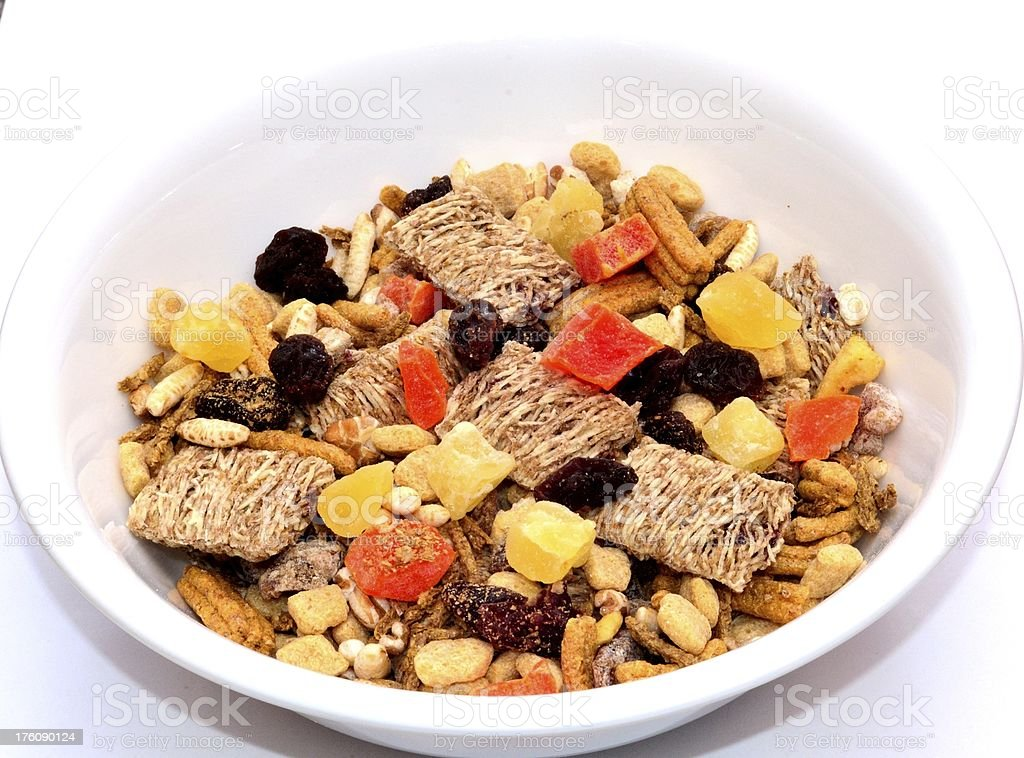 Cereal in a bowl royalty-free stock photo